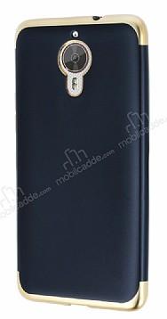 Eiroo Matte Fit General Mobile GM 5 Plus Gold Kenarlı Siyah Silikon Kılıf