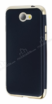 Eiroo Matte Fit General Mobile GM6 Gold Kenarlı Siyah Silikon Kılıf