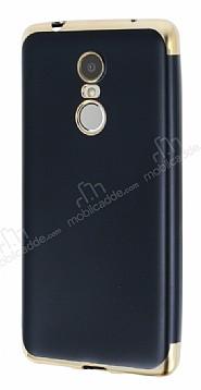 Eiroo Matte Fit Lenovo K6 Note Gold Kenarlı Siyah Silikon Kılıf