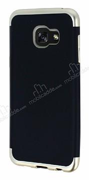 Eiroo Matte Fit Samsung Galaxy A7 2016 Gold Kenarlı Siyah Silikon Kılıf