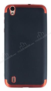 Eiroo Matte Fit Vestel Venus 5530 Kırmızı Kenarlı Siyah Silikon Kılıf