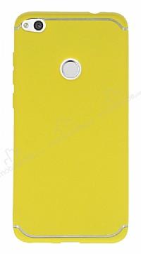 Eiroo Mellow Huawei P9 Lite 2017 Sarı Silikon Kılıf