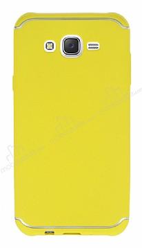 Eiroo Mellow Samsung Galaxy J7 Sarı Silikon Kılıf