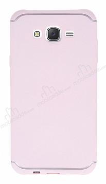 Eiroo Mellow Samsung Galaxy J7 Pembe Silikon Kılıf