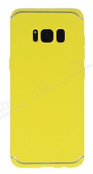 Eiroo Mellow Samsung Galaxy S8 Plus Sarı Silikon Kılıf