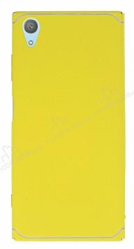 Eiroo Mellow Sony Xperia XA1 Plus Sarı Rubber Kılıf