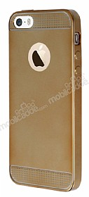 Eiroo Metallic Fit iPhone SE / 5 / 5S Gold Silikon Kılıf
