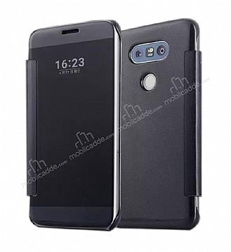 Eiroo Mirror Cover LG G5 Aynalı Kapaklı Siyah Kılıf
