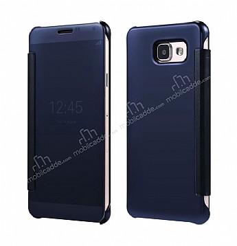 Eiroo Mirror Cover Samsung Galaxy A7 2016 Aynalı Kapaklı Dark Blue Kılıf