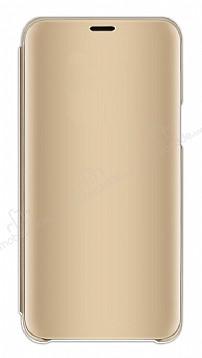 Eiroo Mirror Cover Samsung Galaxy A7 2018 Aynalı Kapaklı Gold Kılıf