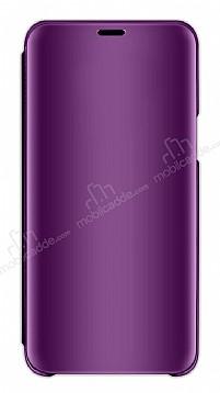 Eiroo Mirror Cover Samsung Galaxy A7 2018 Aynalı Kapaklı Mor Kılıf