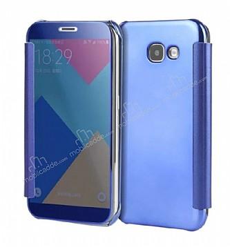 Eiroo Mirror Cover Samsung Galaxy J5 Prime Aynalı Kapaklı Dark Blue Kılıf