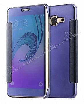 Eiroo Mirror Cover Samsung Galaxy J7 / Galaxy J7 Core Aynalı Kapaklı Lacivert Kılıf