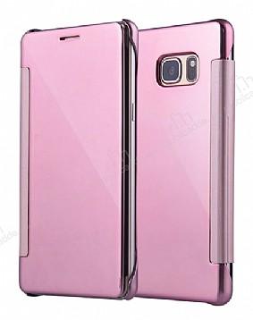 Eiroo Mirror Cover Samsung Galaxy Note FE Aynalı Kapaklı Rose Gold Kılıf
