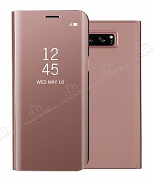 Eiroo Mirror Cover Samsung Galaxy S8 Plus Aynalı Kapaklı Rose Gold Kılıf