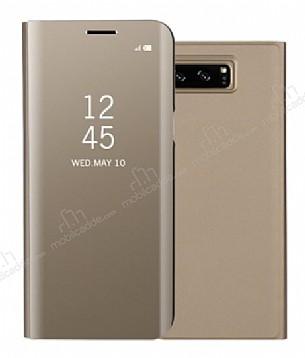 Eiroo Mirror Cover Samsung Galaxy Note 8 Aynalı Kapaklı Gold Kılıf
