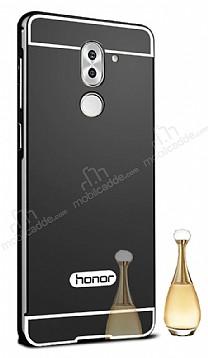Eiroo Mirror Huawei GR5 2017 Metal Kenarlı Aynalı Siyah Rubber Kılıf