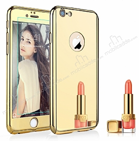Eiroo Mirror Protect Fit iPhone 6 / 6S Aynalı 360 Derece Koruma Gold Kılıf