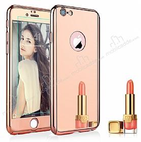 Eiroo Mirror iPhone 7 Aynalı 360 Derece Koruma Rose Gold Kılıf