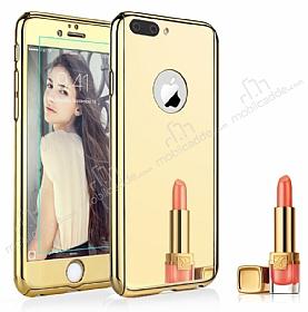 Eiroo Mirror iPhone 7 Plus Aynalı 360 Derece Koruma Gold Kılıf