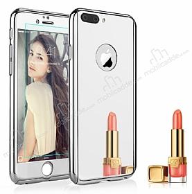 Eiroo Mirror iPhone 7 Plus / 8 Plus Aynalı 360 Derece Koruma Silver Kılıf
