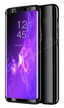 Eiroo Mirror Protect Fit Samsung Galaxy A7 2018 360 Derece Koruma Siyah Kılıf