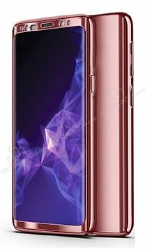 Eiroo Mirror Protect Fit Samsung Galaxy A7 2018 360 Derece Koruma Rose Gold Kılıf