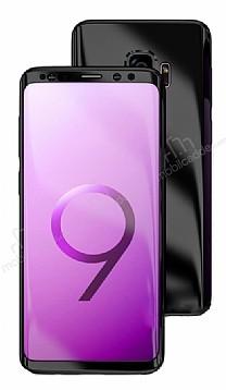 Eiroo Mirror Protect Fit Samsung Galaxy S9 Aynalı 360 Derece Koruma Siyah Kılıf