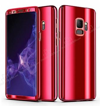 Eiroo Mirror Protect Fit Samsung Galaxy S9 Aynalı 360 Derece Koruma Kırmızı Kılıf