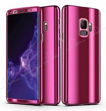 Eiroo Mirror Protect Fit Samsung Galaxy S9 Plus Aynalı 360 Derece Koruma Mor Kılıf