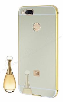 Eiroo Mirror Xiaomi Mi 5X / Mi A1 Metal Kenarlı Aynalı Gold Kılıf