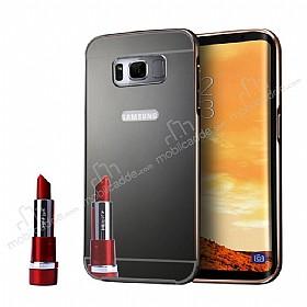 Eiroo Mirror Samsung Galaxy S8 Metal Kenarlı Aynalı Rubber Kılıf
