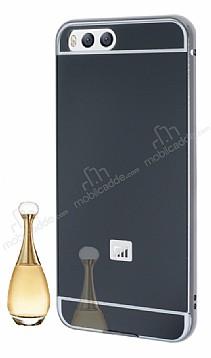 Eiroo Mirror Xiaomi Mi 6 Metal Kenarlı Aynalı Siyah Rubber Kılıf