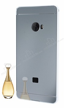 Eiroo Mirror Xiaomi Mi Note 2 Metal Kenarlı Aynalı Silver Rubber Kılıf