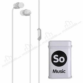 Eiroo Musical Mikrofonlu Kulakiçi Beyaz Kulaklık