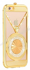 Eiroo Necklace iPhone 6 Plus / 6S Plus Metal Gold K�l�f
