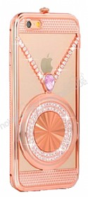 Eiroo Necklace iPhone 6 Plus / 6S Plus Metal Rose Gold K�l�f