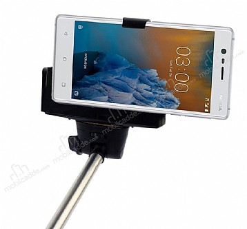 Eiroo Nokia 3 Bluetooth Tuşlu Selfie Çubuğu