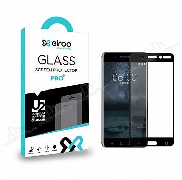 Eiroo Nokia 5 Curve Tempered Glass Full Siyah Cam Ekran Koruyucu