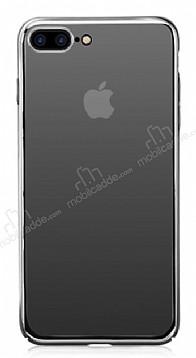 Eiroo Pente iPhone 7 Plus / 8 Plus Siyah Rubber Kılıf