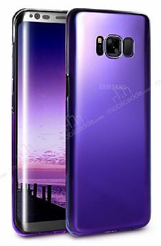 Eiroo Pente Samsung Galaxy S8 Mor Rubber Kılıf