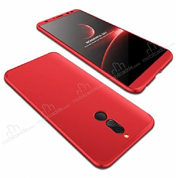 Eiroo Protect Fit Huawei Mate 10 Lite 360 Derece Koruma Kırmızı Rubber Kılıf