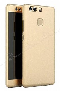 Eiroo Protect Fit Huawei P9 360 Derece Koruma Gold Rubber Kılıf
