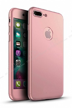 Eiroo Protect Fit iPhone 7 Plus 360 Derece Koruma Rose Gold Rubber Kılıf