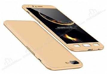 Eiroo Protect Fit OnePlus 5 360 Derece Koruma Gold Rubber Kılıf