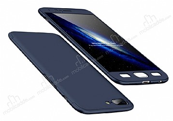 Eiroo Protect Fit OnePlus 5 360 Derece Koruma Lacivert Rubber Kılıf