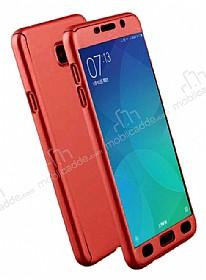 Eiroo Protect Fit Samsung Galaxy A5 2017 360 Derece Koruma Kırmızı Rubber Kılıf