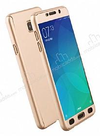 Eiroo Protect Fit Samsung Galaxy A5 2017 360 Derece Koruma Gold Rubber Kılıf