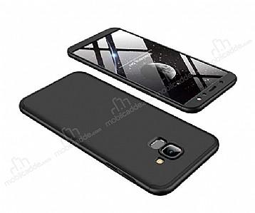 Eiroo Protect Fit Samsung Galaxy A6 2018 360 Derece Koruma Siyah Rubber Kılıf
