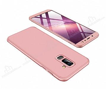Eiroo Protect Fit Samsung Galaxy A6 Plus 2018 360 Derece Koruma Rose Gold Rubber Kılıf